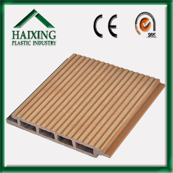 synthetic teak decking pvc/pe/wpc construct materail,anti-water, no deformation, CE,SGS