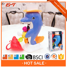 Brand new dolphin design plastic baby bath set toys for sale