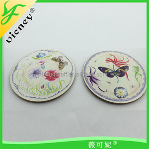 Top Quality Round Promotional Custom Tea Cup Wood Coaster or Cup Mat
