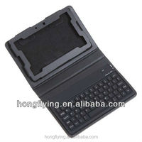 Keyboard Leather Case for 7 inches BlackBerry Playbook with stand function