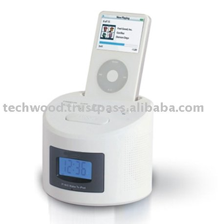 IP-1800 Dock Speaker For Ipod With Alarm Clock