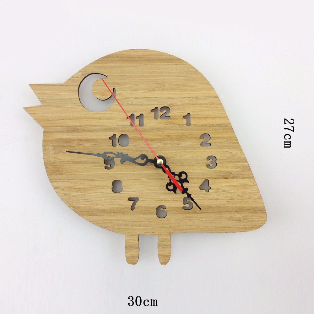 digital wall clock decorative wall clock wood bamboo wall clock