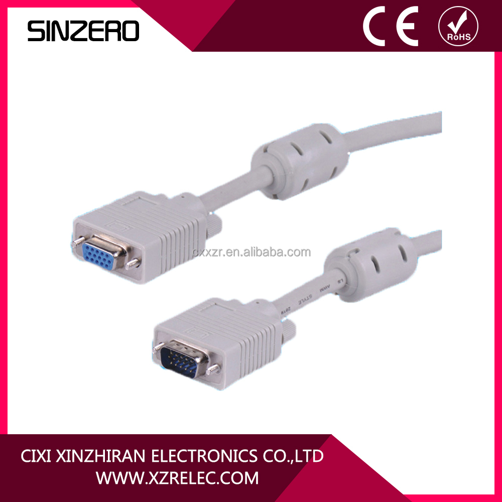 Gold plated male to male cable 15 pin vga cable specification