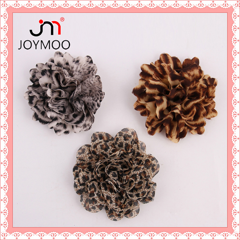Factory Outlets Cheap Ribbon Leopard Handmade Flower