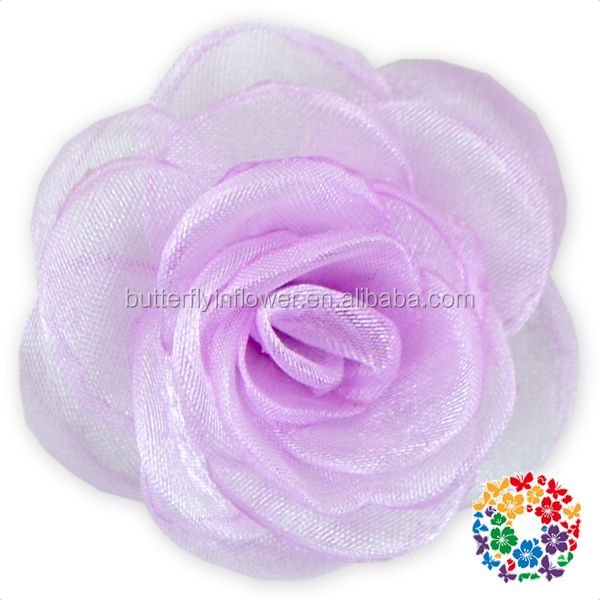 Wholesale China Cheap Price Lavender Chiffon Rose Flowers Artificial Flowers