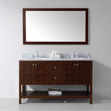 Antique style bathroom vanity with counter top and basin