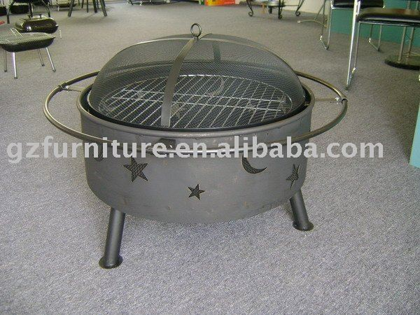 Indoor stainless steel fire pit