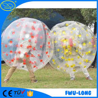 CE 1.5m TPU Funny And Durable bumper ball soccer bubble for outdoor football or soccer
