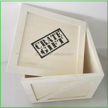 Wooden Storage Tidies Box Gift,Wood Gift Crate,Crates with Lid