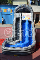 Hot selling channal high quality commercial inflatable jungl water slide,adult water slide,used fiberglass water slide for sale
