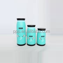 multicapacity lovely/cartoon pictures double wall stainless steel vacuum insulated water bottle/logo customized
