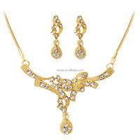 Fashion Gold Necklace Set wholesale costume jewelry NSDR-0037