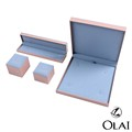 Wholesale cardboard packaging gift case sky blue set paper craft jewelry box with custom logo