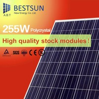 China Manufacturers poly solar panel black 255w