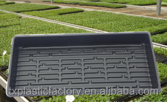 Factory supply wholesale plastic seed germination nursery flat tray