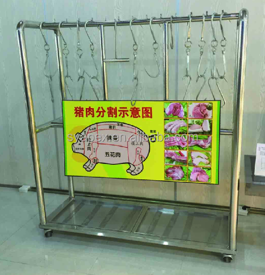 APEX supermarket butcher stainless steel meat racks