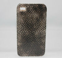 Cell Phone cover inlay with stingray skin, brown color