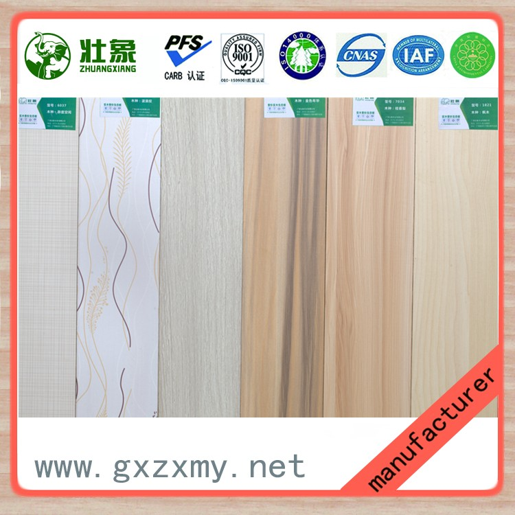 Fir Strips Core Melamine Wood Board For Partition Wall Board