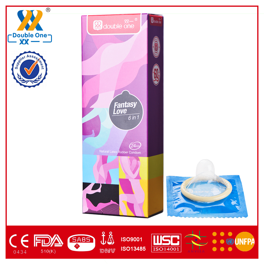 Natural rubber latex 6 in 1 condom female and male sex image super condom