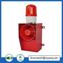 YS-05A 130dB strobe warning light loud sound activated alarm for crane siren tone