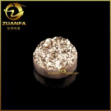 2015 Hot wholesale round natural crystal druzy cabochon