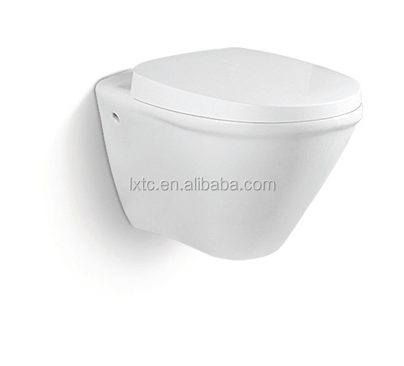 Designed prefab bathroom new dimensions hidden tank wc toilet white glazed wall hung toilet