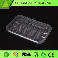 Rectangle clear frozen meat tray plastic vegetable box