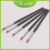 BQAN New Developed 5pcs Set Black UV Coat Wood Handle Small Size Silicone Gel Nail Brush