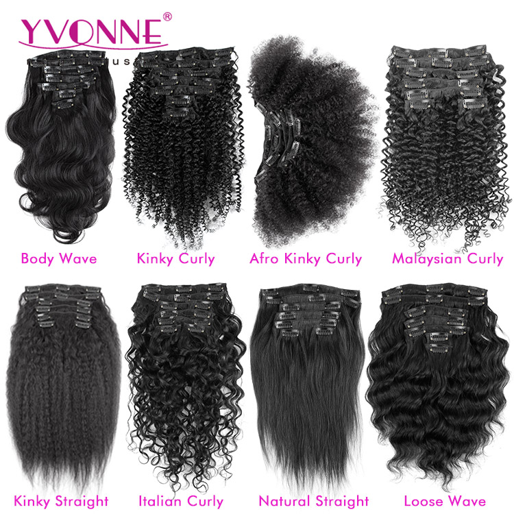 Different Types Of Curly Weave Hair Extensions Clip In Hair