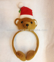 2014 Hot Plush Christmas toys bear Earmuff