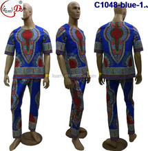 African men wax clothing c1048 all size with fashionable design multi color suitable chemical wax hand cut fabric for men cloth