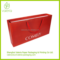 Custom Extra Large Reusable Paper Shopping Bag with Handle and Hot Foil Stamping Company Logo