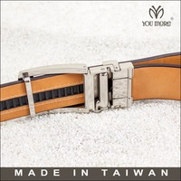 Taiwan double clamp automatic mens clip auto lock cobra buckle belt