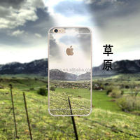 New products on china market OEM design landscape pattern tpu cell phone case cover for iphone 6 tpu factory price