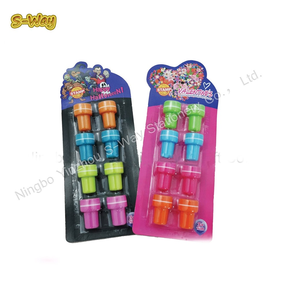 8pcs round stamps for kids/plastic toy stamps