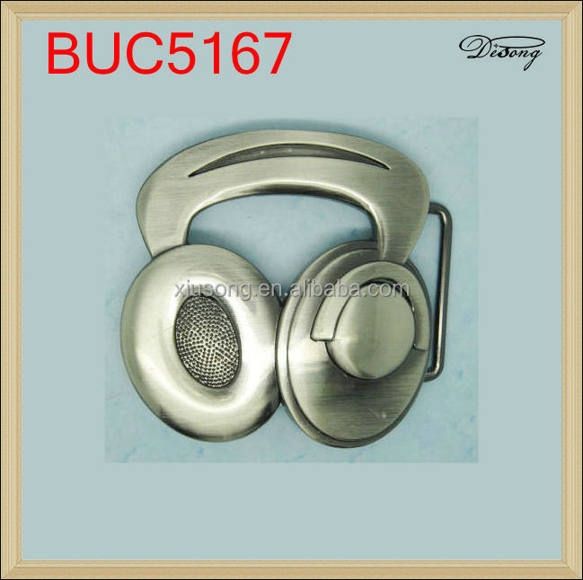 BUC5167 headset custom personalized gun removable metal belt buckle