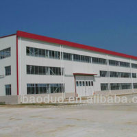 ISO9001&ASTM Big steel structure warehouse/