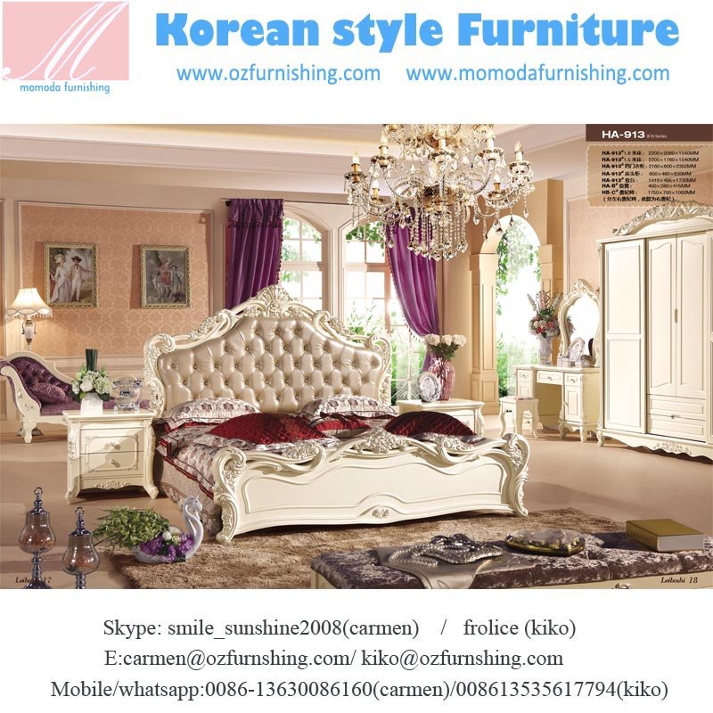 JHY913 Hotel furniture/Alibaba Italian luxury french style bedroom set/magnificent European style shining white bedroom furnitur