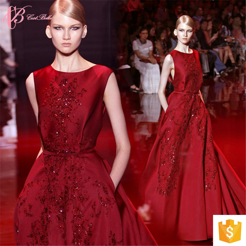 Alibaba Sexy Suzhou Open Back Wine Red Puffy Prom Dress Long Evening Dresses 2017
