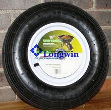 wheelbarrow polyurethane tire fill solid rubber spoke wheels