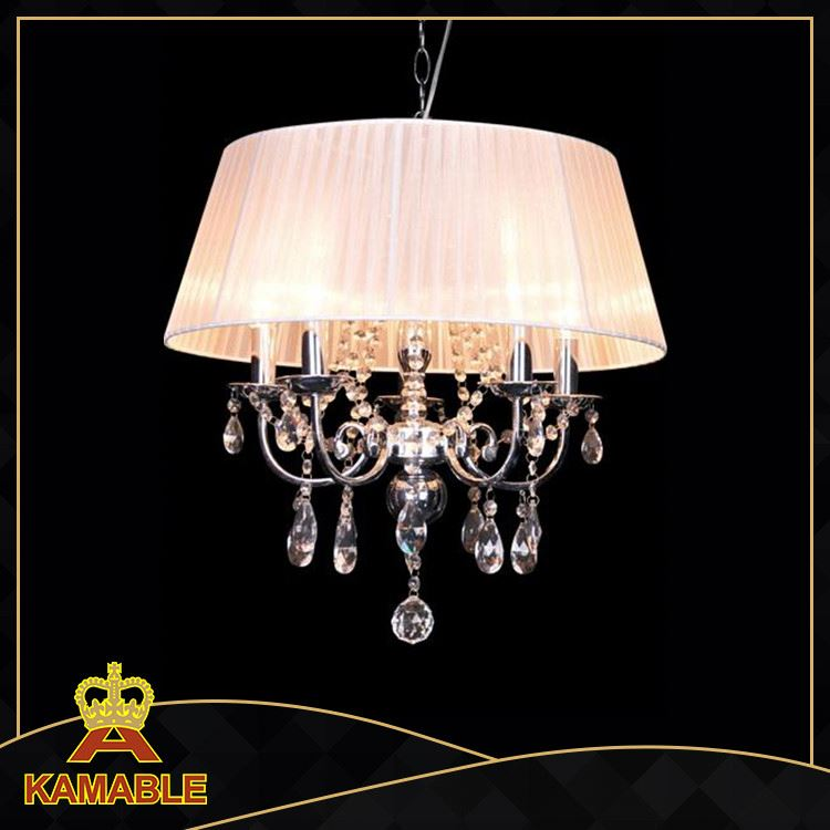 Light Silver/Chrome Finish big Crystal Ceiling Lighting