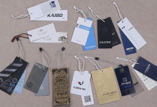 2014 cute and lovely design of full light blue paper garment hang tag&clothing tags