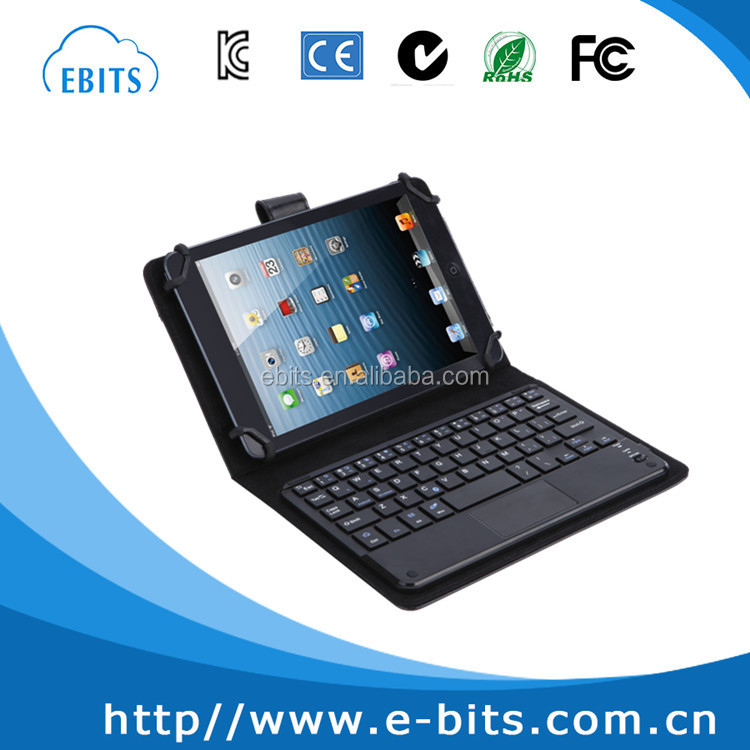 Black wireless bluetooth keyboard for 7 inch tablet PC