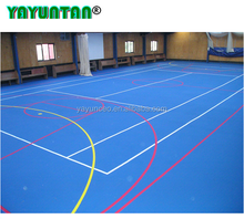 eco friendly wear resistence 4mm indoor outdoor full PU sport court floor surface
