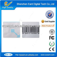 Custom stamped jewelry tags RF barcode paper for supermarket EC-JA404