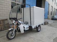 250cc Cheap Front Carbin Three Wheel Cargo Tricycle With Cloesd Box Trike For Adults On Sale