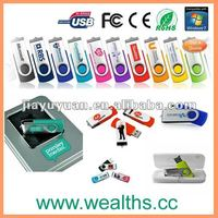 Lowest Price Promotional Gift Swivel USB with custom logo