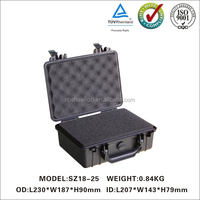 durable plastic storage case with handle
