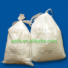 printed plastic laundry bags with cotton drawstring