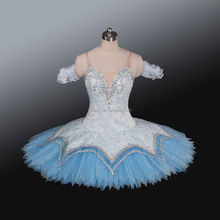New !!!! BLY1216a !!! Adult light blue luxurious professional competition classical ballet tutu